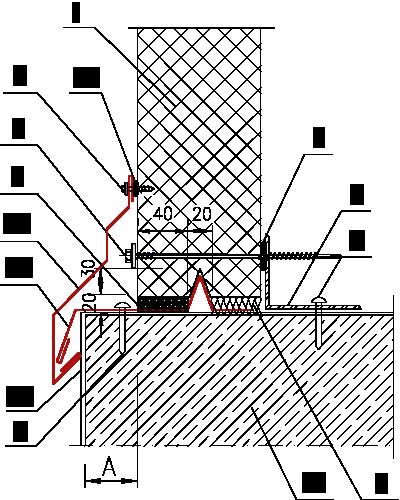Схема примыкания к цоколю